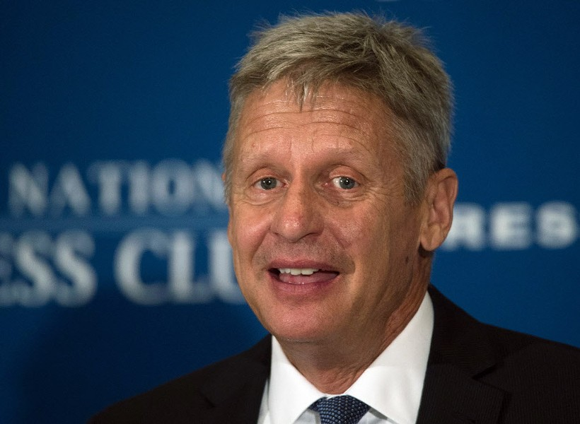 Libertarian Party presidential nominee Gary Johnson - MOLLY RILEY/AFP/GETTY IMAGE