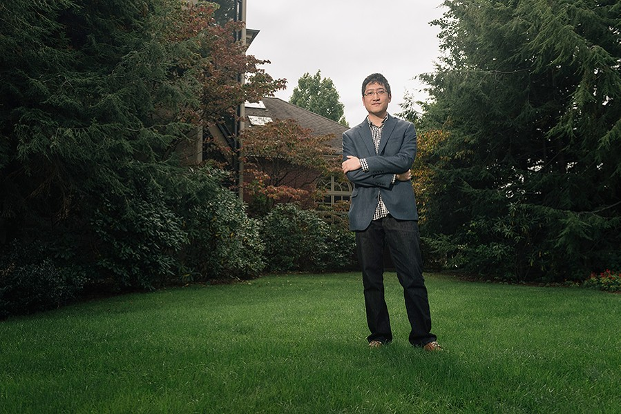 Cheung in Providence, Rhode Island, where his wife, composer Wang Lu, teaches at Brown University - BEN GEBO