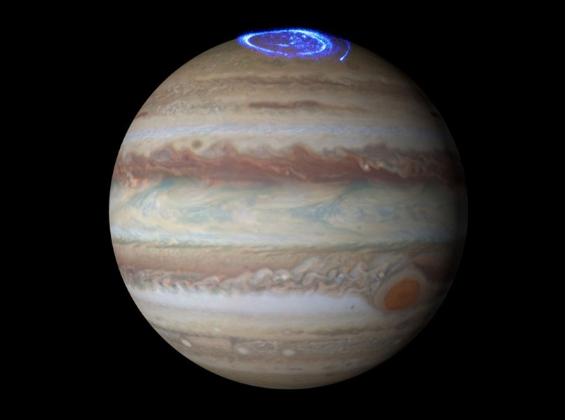 "Jupiter's auroras, whose radio signals NASA has converted into a kind of ""music"" - NASA/ESA/HUBBLE"