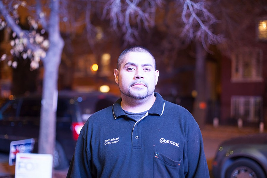 """Edgar Lugo of Little Village: """"I had to do a provisional ballot. Makes me feel like I wasted my time."""" He's worried his vote might not count. - DANIELLE A. SCRUGGS"""