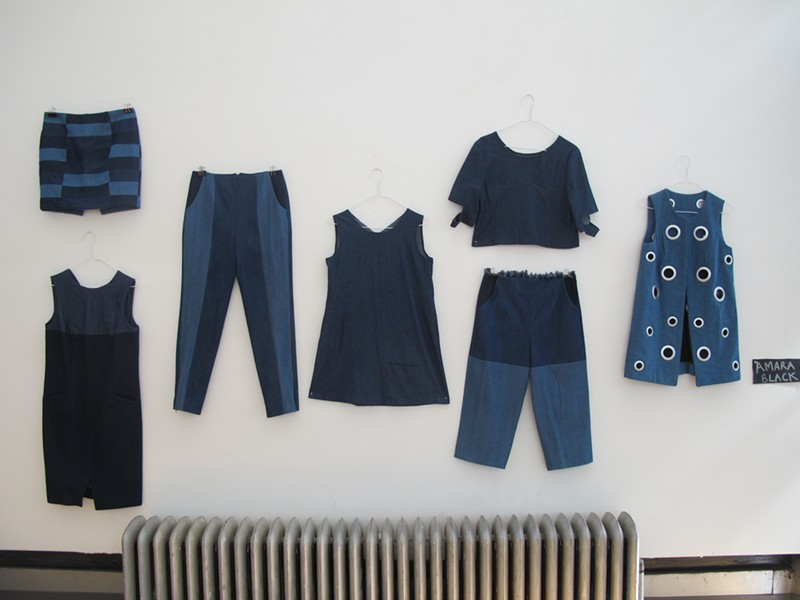Designs by Amara Black. The grommet vest on the right sold for only 80 bucks! - ISA GIALLORENZO