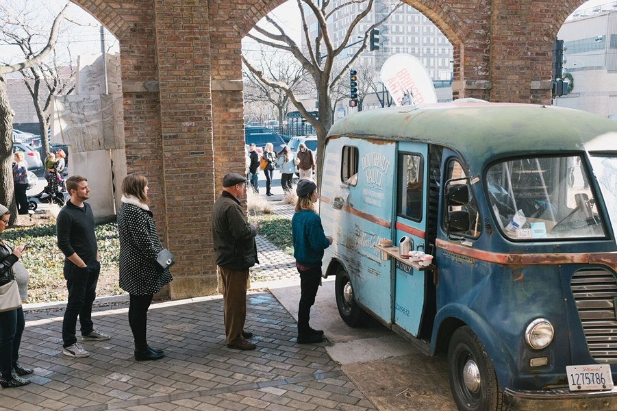 Food trucks will serve outdoors as the Renegade Craft Fair moves inside the Bridgeport Art Center this weekend. - COURTESY RENEGADE CRAFT FAIR