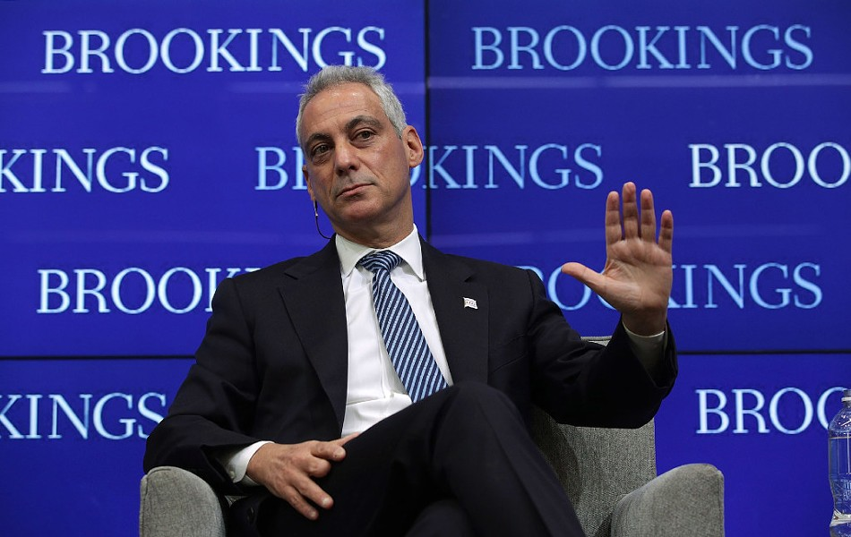 Chicago Mayor Rahm Emanuel speaking last week in Washington, D.C. - PHOTO BY ALEX WONG/GETTY IMAGES
