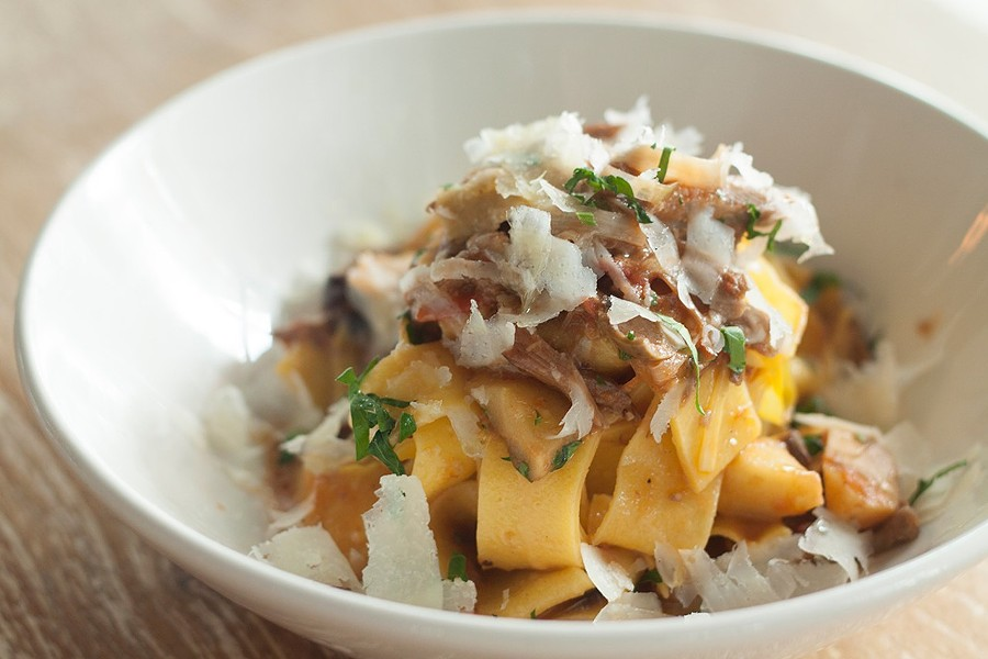 Pappardelle with duck ragu, Monteverde - ANTHONY SOAVE