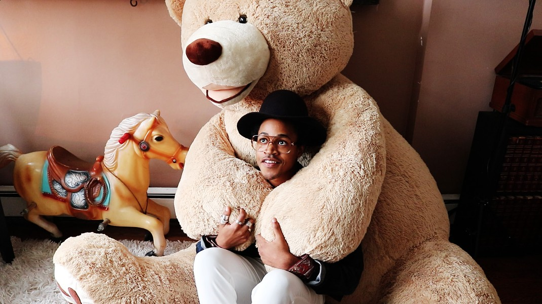 Martell says he'll often sit in the lap of the teddy bear when he's stressed. - MORGAN JOHNSON