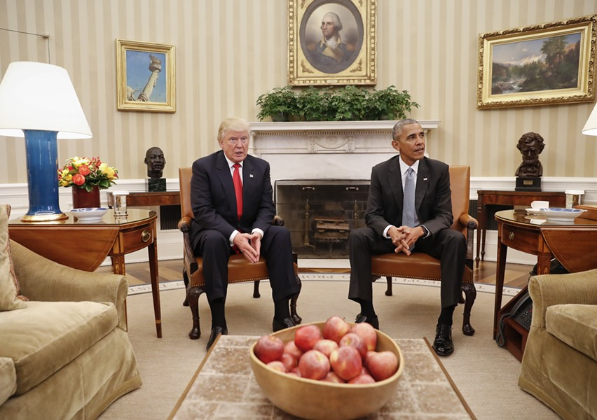 Trump can never take away Obama's biggest contribution to history: getting elected to begin with. - PABLO MARTINEZ MONSIVAIS/AP PHOTO