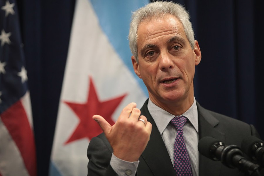 Chicago Mayor Rahm Emanuel speaking at a press conference in January - PHOTO BY SCOTT OLSON/GETTY IMAGES
