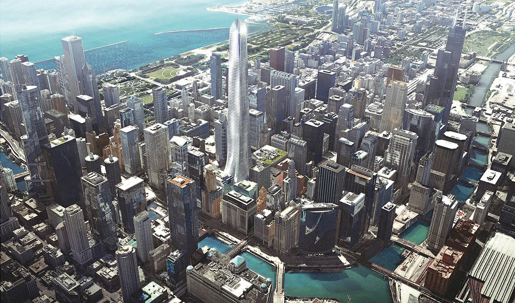 The state has proposed replacing the Thompson Center with a new skyscraper, shown here in renderings released by the governor's office. - ADRIAN SMITH + GORDON GILL