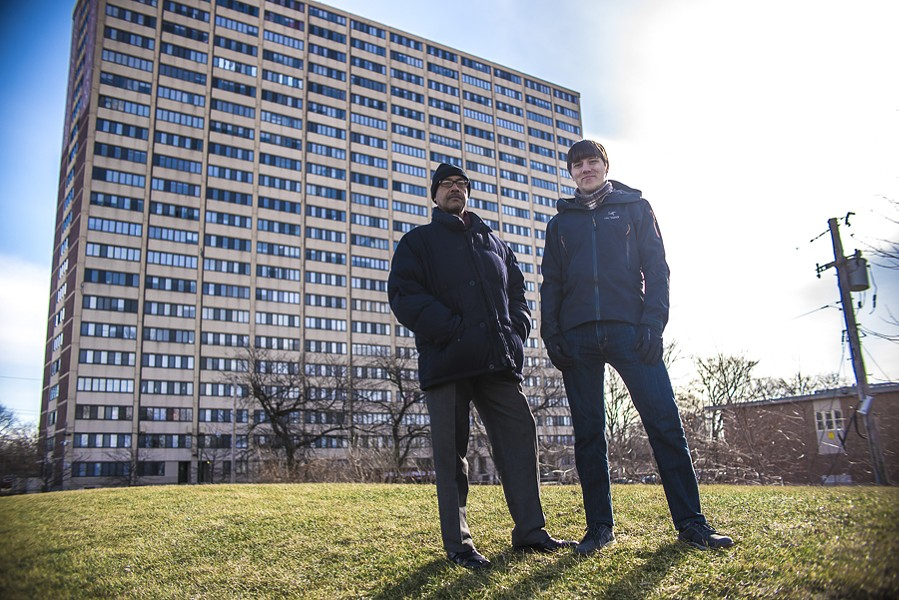 Culture Shock Games developer Michael Block (right) tapped longtime Englewood resident Tony Thornton to heighten the realism of the dialogue and setting in We Are Chicago. - CAROLINA SANCHEZ