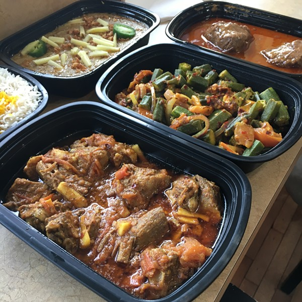 Takeaway thali from Thali Bites in Wilmette - MIKE SULA