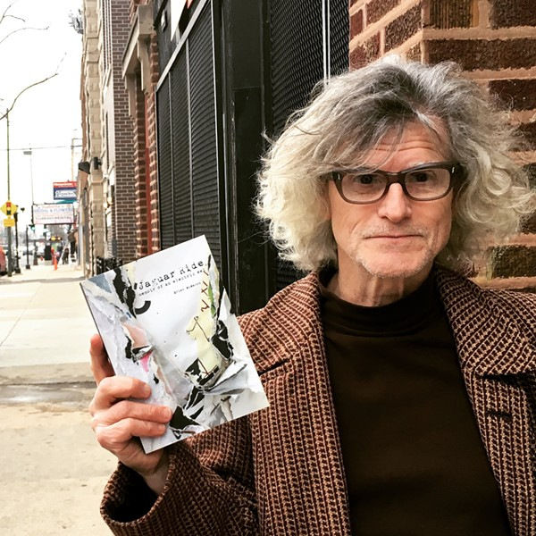 Brian McMahon with a copy of Jaguar Ride - COURTESY OF HOZAC BOOKS
