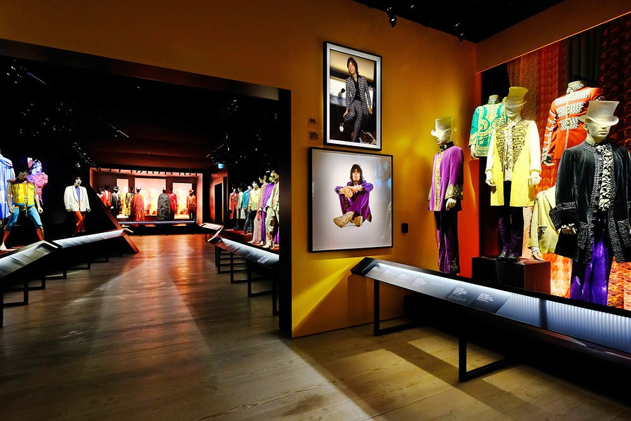 "Some of the Stones' outfits are featured in the exhibit. - COURTESY THE ROLLING STONES AND ""EXHIBITIONISM"""