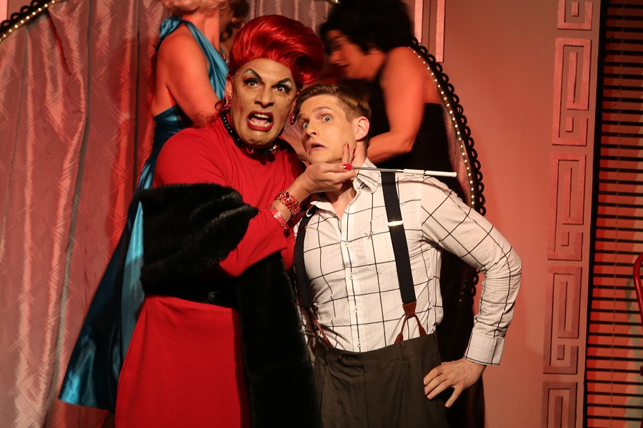 David Cerda and Chazie Bly in Hell in a Handbag's Lady X: The Musical - RICK AGUILAR