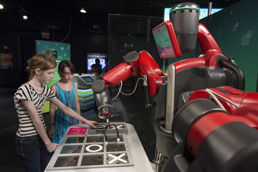 """A collection of robots, including one that plays tic-tac-toe, comes to the Museum of Science and Industry for """"Robot Revolution."""" - ©2015 J.B. SPECTOR/MUSEUM OF SCIENCE AND INDUSTRY CHICAGO"""
