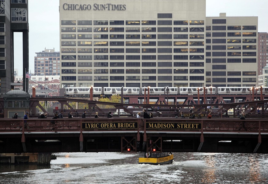 The Sun-Times building at 350 N. Orleans is also home to the Reader. - AP PHOTO/KIICHIRO SATO, FILE