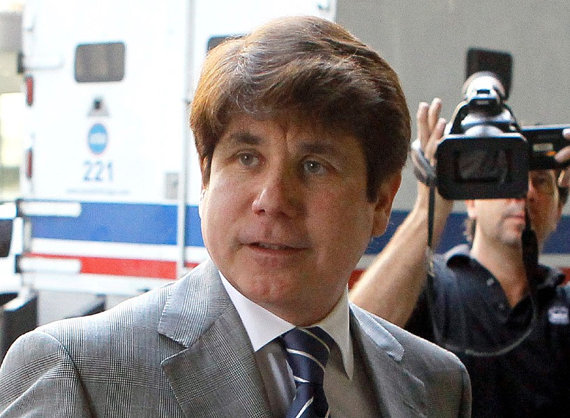 Former governor Rod Blagojevich arriving at the federal courthouse in 2011 - AP PHOTO/CHARLES REX ARBOGAST, FILE