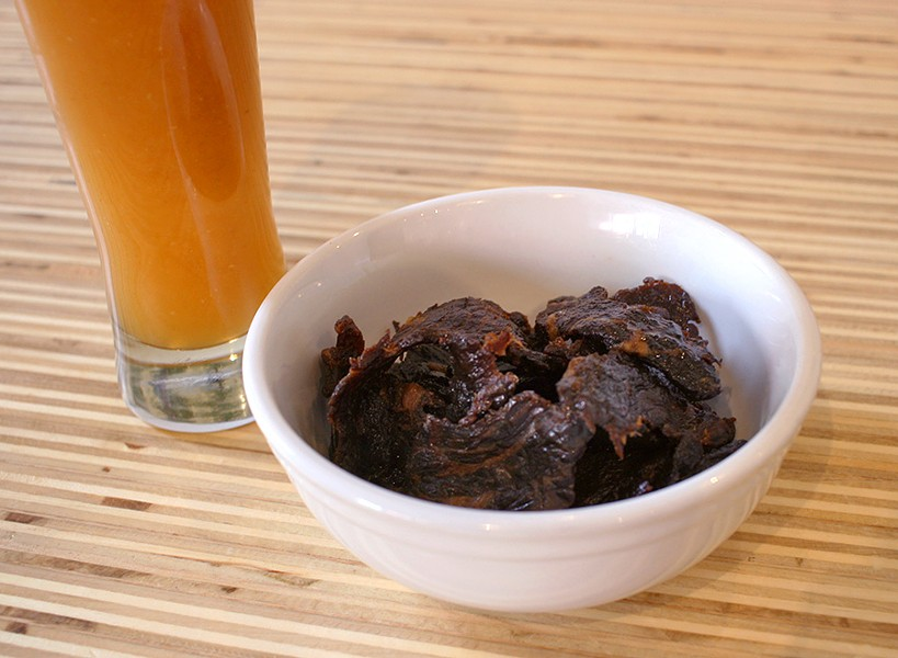 "Tamarillo agua fresca and tamarillo jerky by Gabino ""Bino"" Ottoman of the Ruin Daily - JULIA THIEL"