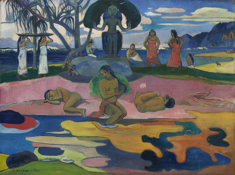 "Paul Gauguin, Mahana no atua (Day of the God), 1894, on display as part of ""Artist as Alchemist"" at the Art Institute - COURTESY OF THE ART INSTITUTE OF CHICAGO"