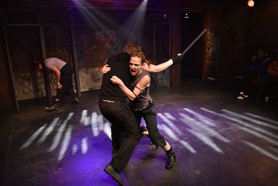 Harrison Weger and Megan Schemmel in Fight City - COURTESY FACTORY THEATER