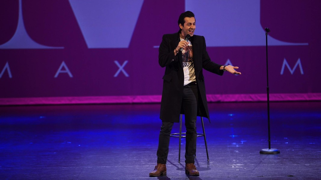 Iranian stand-up Max Amini performs for one night only at the Athenaeum Theatre Sat 9/9. - COURTESY OF ARTIST