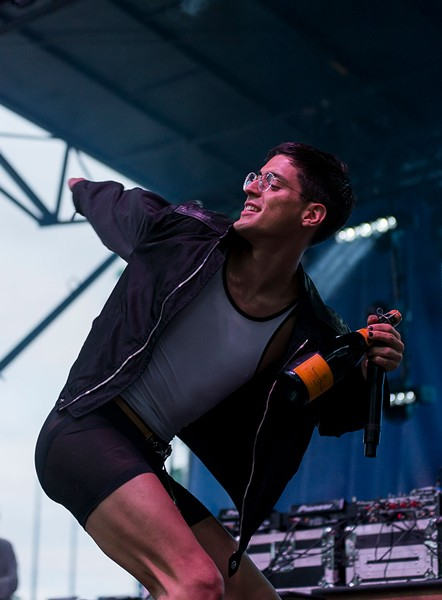 Arca at this summer's Pitchfork festival - PORTER MCLEOD