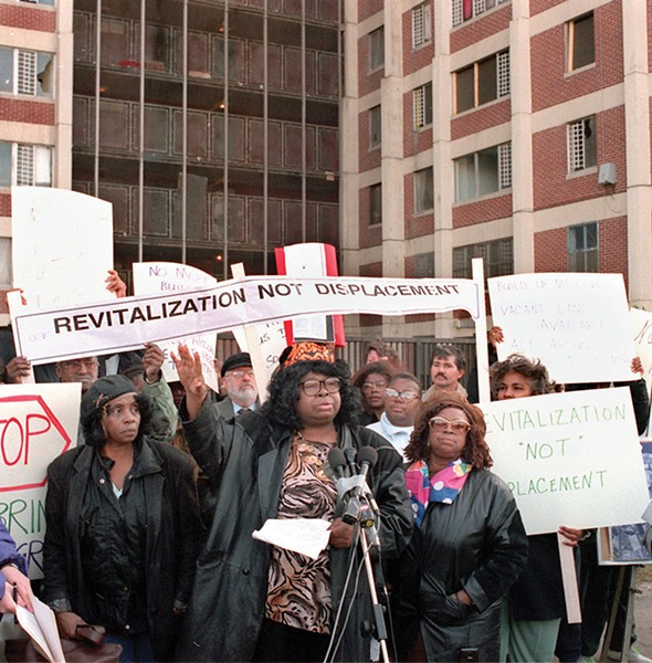 Elected tenant leaders from Chicago's public housing projects took legal action in the face of the Plan for Transformation to assure residents' rights to return to new and rehabbed units. - JOHN H. WHITE