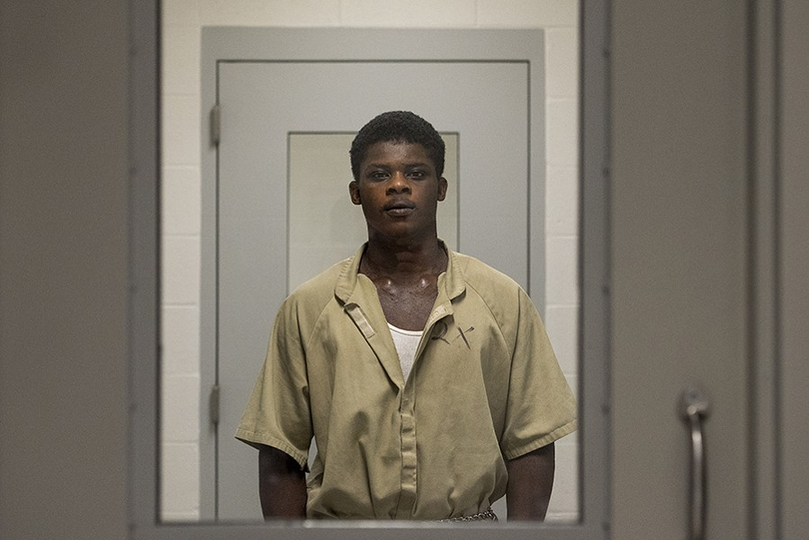 Jaylan Banks, 18, was sentenced to eight years in an adult prison for punching a correctional officer at the juvenile correctional center in Harrisburg in southern Illinois. In the past, he might have lost privileges, served a short stint in solitary confinement or had his juvenile term extended. - NICK SCHNELLE FOR PROPUBLICA ILLINOIS