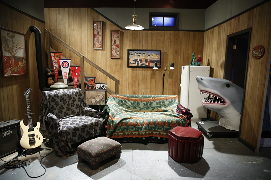 The set of Wayne's World and other favorite SNL sketches are on display at the Museum of Broadcast Communications. - COURTESY OF THE MUSEUM OF BROADCAST COMMUNICATIONS