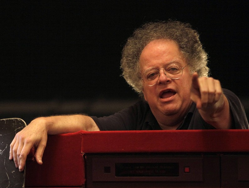 Conductor James Levine is seen before the start of the final dress rehearsal for Tosca at the Metropolitan Opera in New York in 2009. - AP PHOTO/MARY ALTAFFER