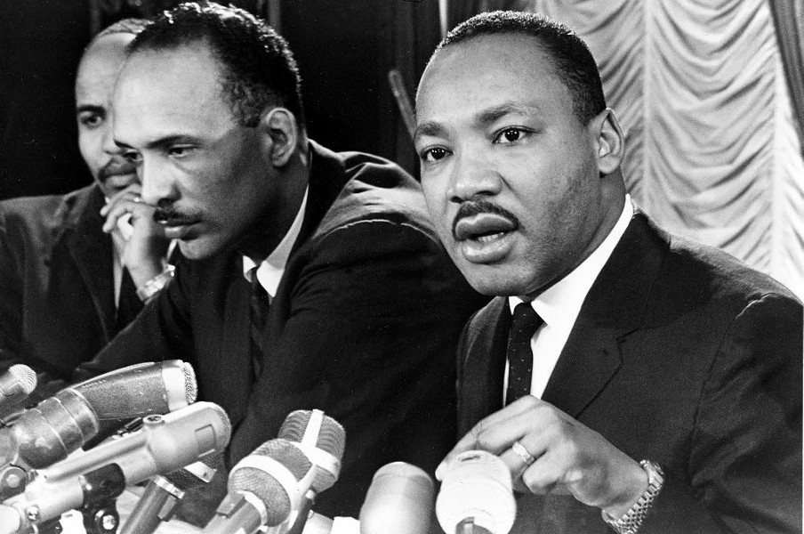 King speaks at a news conference in Chicago on Jan. 7, 1966. - AP CHICAGO SUN-TIMES