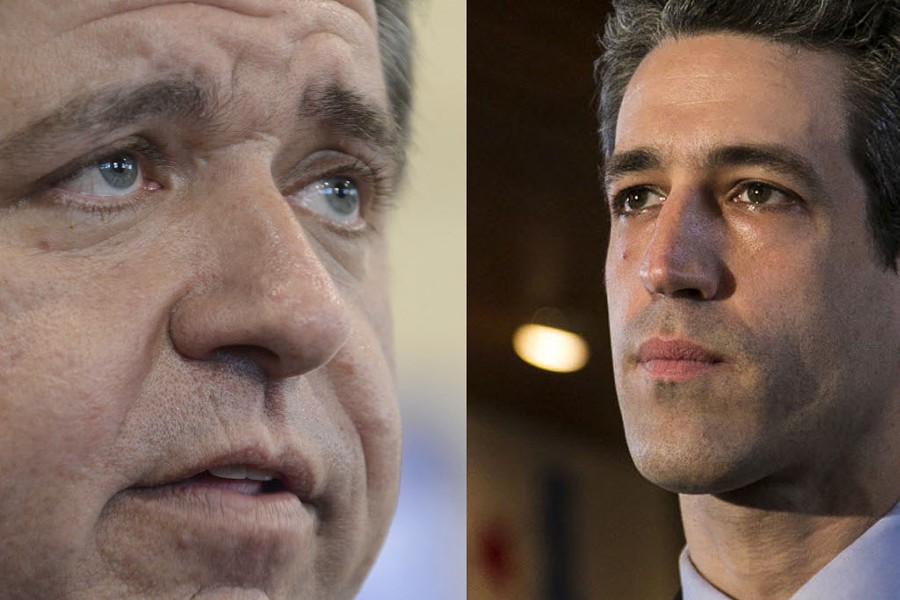 J.B. Pritzker and Daniel Biss are vying for the Democratic Party nomination to unseat governor Bruce Rauner. - BRIAN JACKSON, ASHLEE REZIN