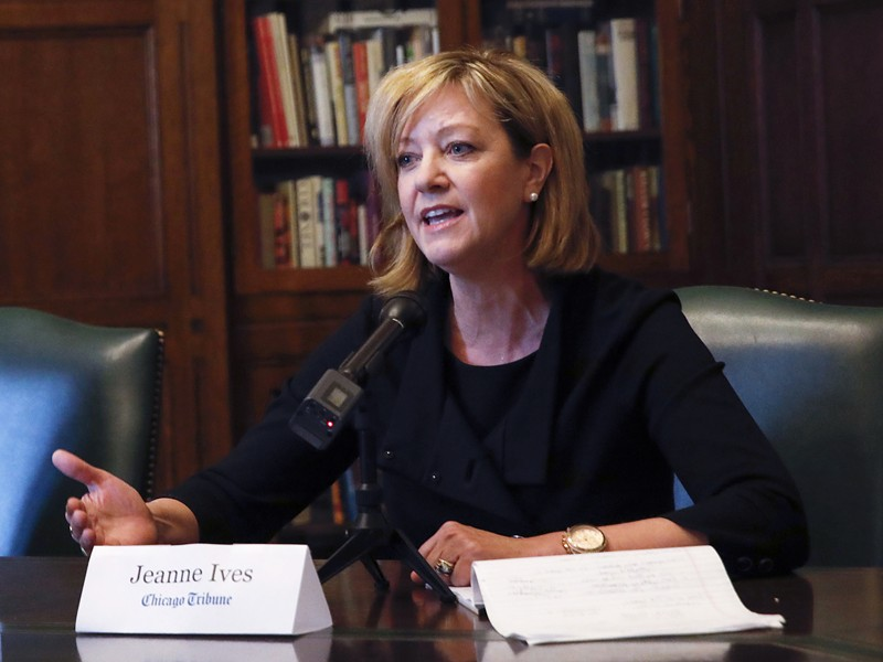 State representative Jeanne Ives meets with the Chicago Tribune Editorial Board January 29. - JOSE M. OSORIO/CHICAGO TRIBUNE VIA AP