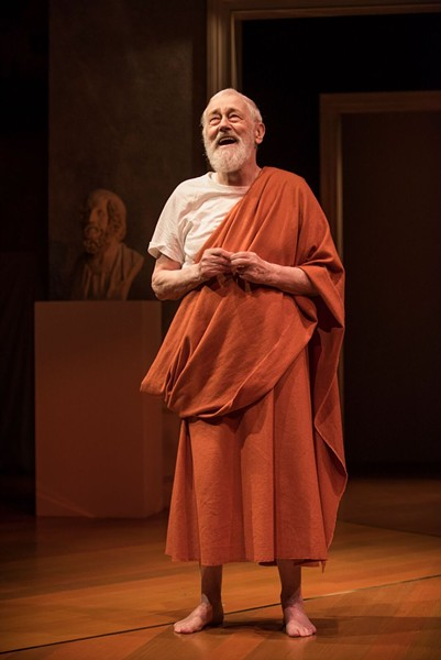 John Mahoney as Homer in Steppenwolf's production of The Rembrandt - MICHAEL BROSILOW