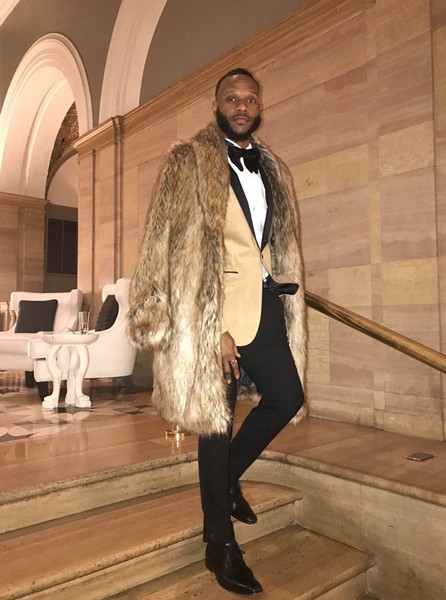Stylist Charles Harris reserves this fur coat for when he wants to make a statement. - ISA GIALLORENZO