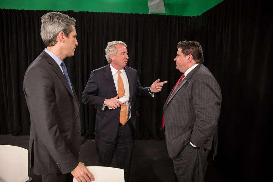 The three Democratic gubernatorial front-runners at a forum in January - RICH HEIN/SUN-TIMES