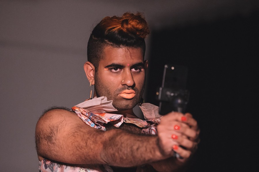 Gender-nonconforming artist Alok Vaid-Menon comes to the School of the Art Institute 3/12. - ELIF KÜCÜK