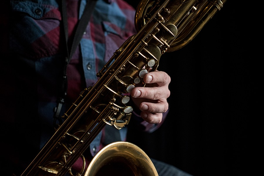 Rempis plays his baritone saxophone, a Selmer Mark VI from the mid-1950s. - CENGIZ YAR