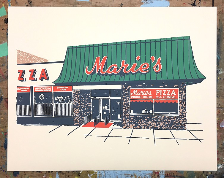 One of the Chicago-inspired pieces of art to be displayed at the Pizza Summit - RYAN DUGGAN