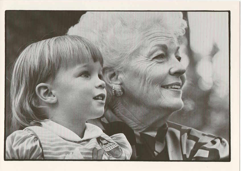 Ann Richards and Lily Adams, Cecile's daughter - AVE BONAR