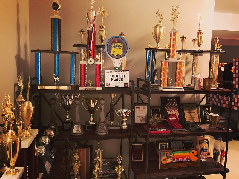 Josh Sharpe's pinball trophy room - RYAN SMITH