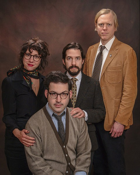 The core of the Roommate live band, from left: Gillian Lisée, Seth Vanek (seated), Kent Lambert, and Sam Wagster - COURTESY THE ARTIST