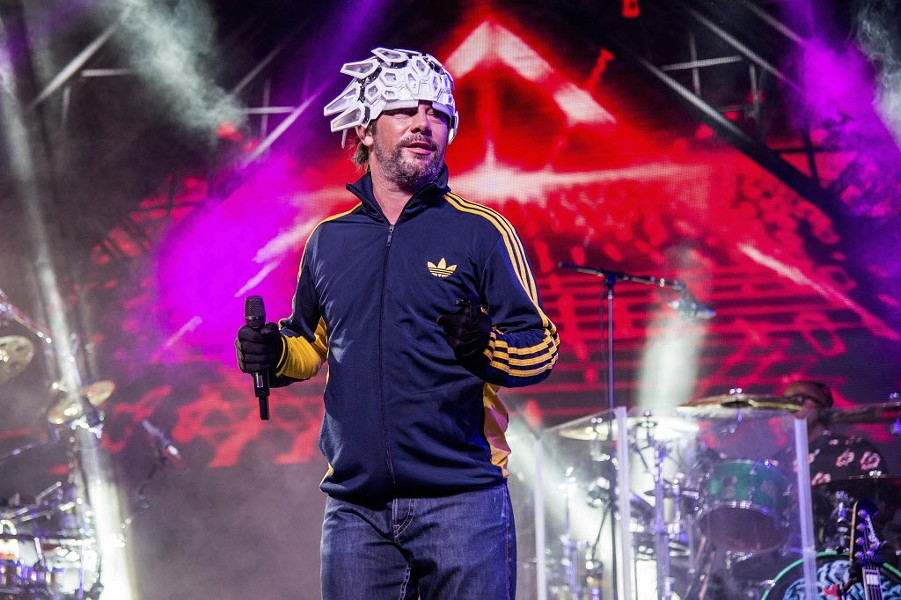 Jamiroquai performs at this year's Coachella - AMY HARRIS / AP