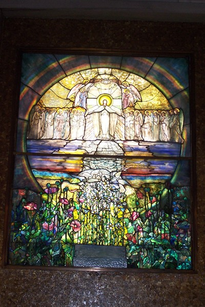 One of the Tiffany windows in the Wade Chapel in Lake View cemetery in Cleveland - PROVIDED BY LAKE VIEW CEMETERY