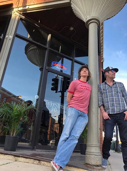 Taylor Street Tap owners Dylan MacWilliams and Brian Fadden outside their bar - IMAGE FROM THE TAYLOR STREET TAP FACEBOOK PAGE