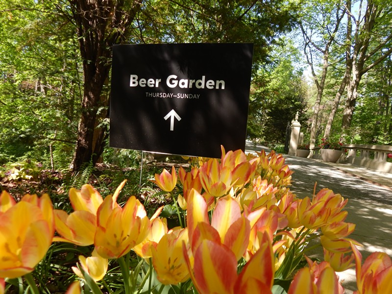 At Newfields, the garden path leads to the beer. - DEANNA ISAACS