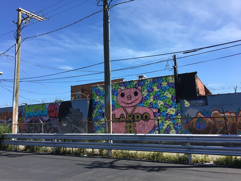 Project Logan's north wall, which faces Fullerton Avenue - LEOR GALIL