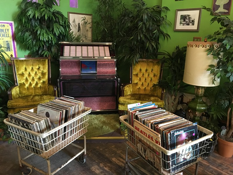 Electric Jungle's vibe is half record store, half living room (because few of us can afford a living-room jukebox). - LEOR GALIL