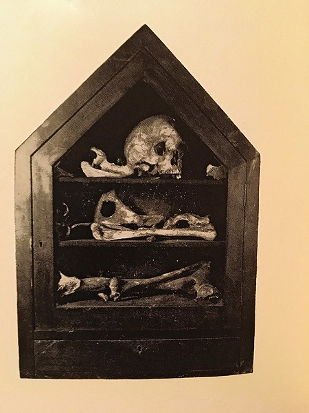 The bones of Jean Lalime - HISTORICAL PHOTO FROM THE CHICAGO HISTORICAL SOCIETY 1856-1956 BY PAUL M. ANGLE