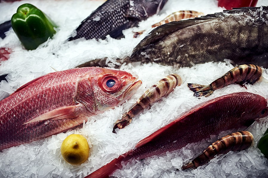 Black sea bass, South Africa shrimp, red snapper - MAX THOMSEN