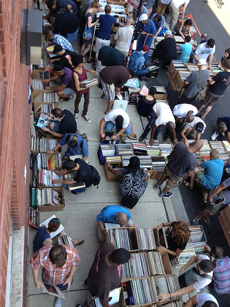 The last time Dusty Groove had a sale like this, it was outside on a side street in 2014. This weekend's will be indoors and air-conditioned. - COURTESY OF DUSTY GROOVE